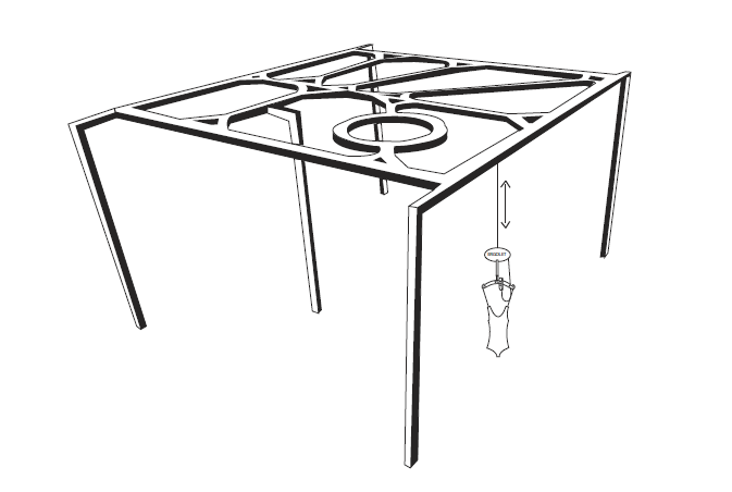 Sketch of the outdoor llift system