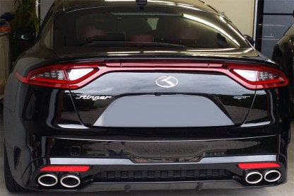 kia stinger k badge rear