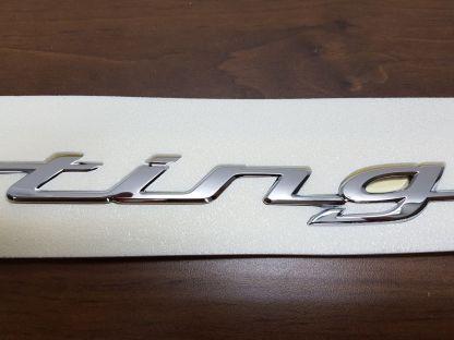 kia stinger trunk script badge emblem