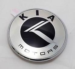 chrome vintage kia motors badge