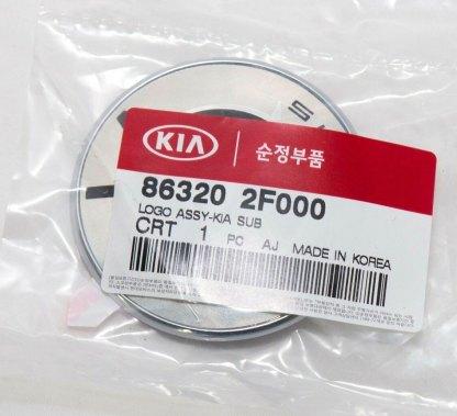 round chrome kia motors badge emblem