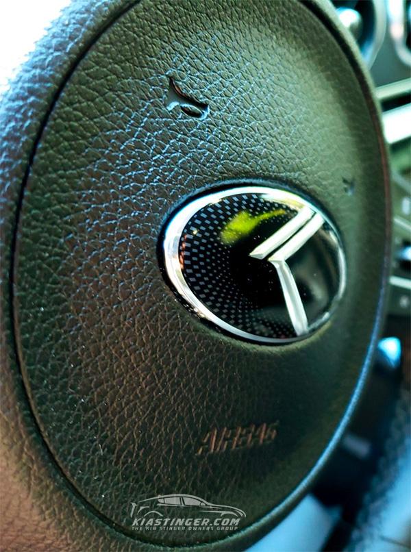 """Kia Performance Center >> OEM Style """"Vintage K"""" Steering Wheel Emblem - Kia Stinger ..."""