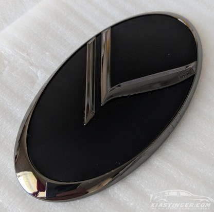 black chrome vintage k badge