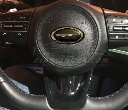 kia stinger gt steering wheel overlay