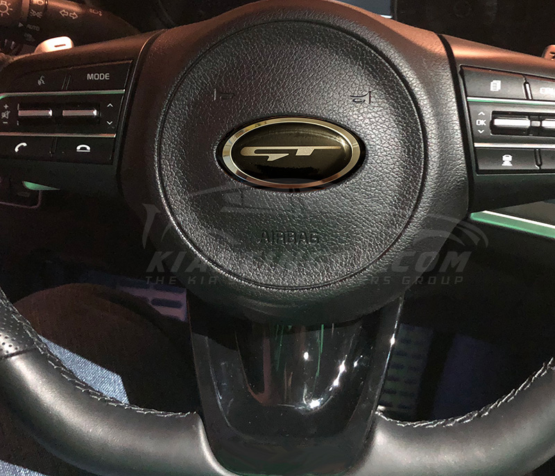 Oem Style Gt Steering Wheel Emblem Kia Stinger Dot Com