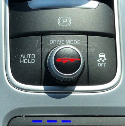 red gt stinger drive mode dial decal