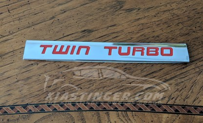 kia stinger twin turbo badge