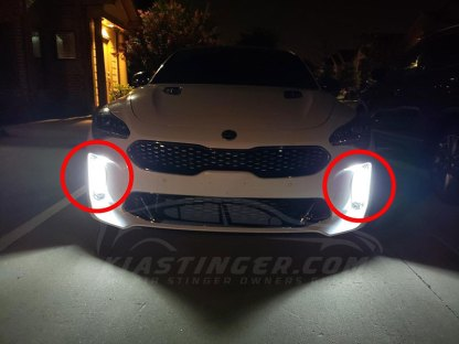 kia stinger led fog lights