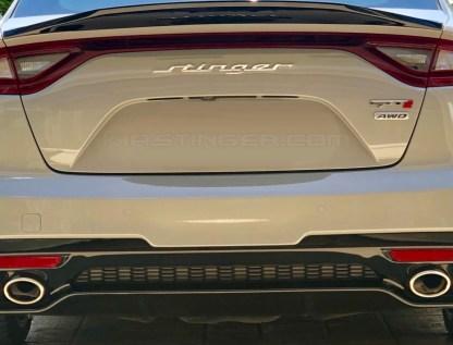 gtt2 emblem on kia stinger rear hatch