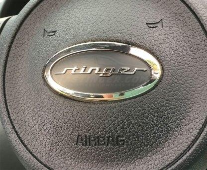 kia stinger steering wheel badge emblem