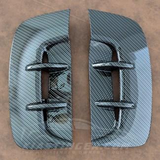 kia stinger carbon fiber style fender vents