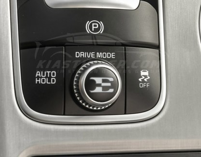 e drive mode dial decal for kia stinger