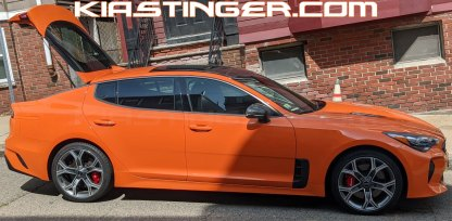 federation orange painted rear side reflectors for kia stinger gts