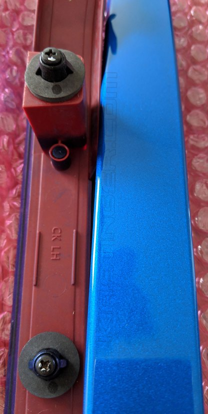 kia stinger micro blue painted side reflectors