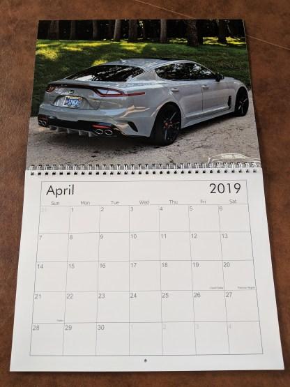 kia stinger calendar