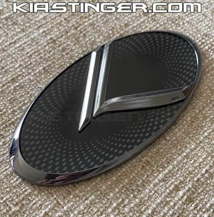 black chrome gunmetal vintage k badges emblems for kia stinger