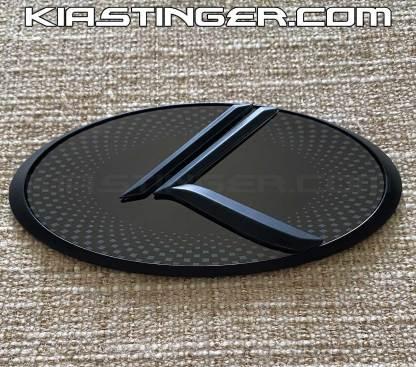 matte black vintage k badges emblems for kia stinger