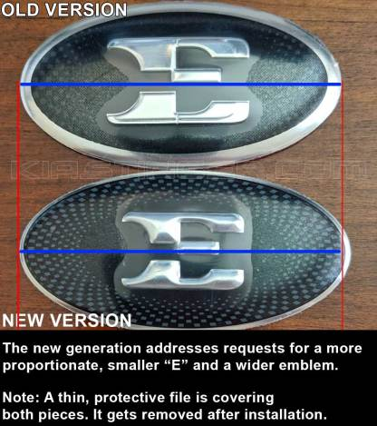 e steering wheel badge emblem over for kia stinger