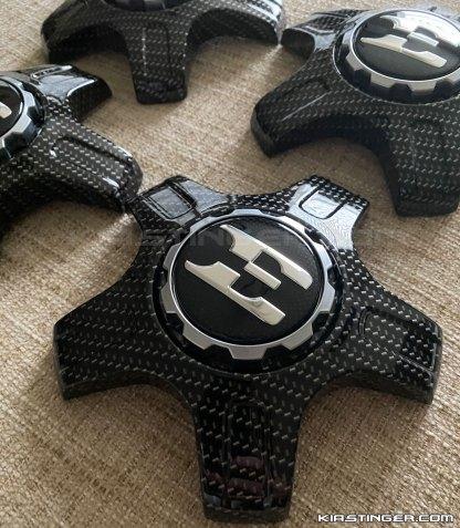 carbon fiber stinger e wheel center caps
