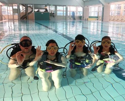 Open Water Diver Kurs, Nov. 2018