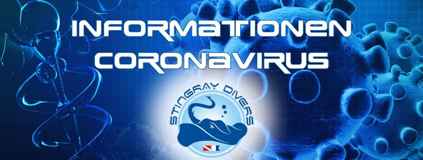 Stingray Divers - Informationen Coronavirus