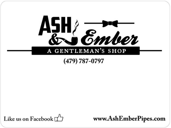 Joe sells hand blended tobaccos and required labels. This design is based off of my Ash&Ember sign design and the business cards.