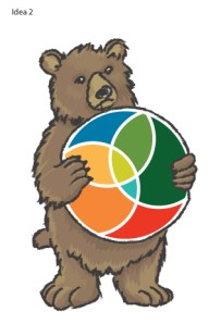 The second was to use a more real type bear in illustration form