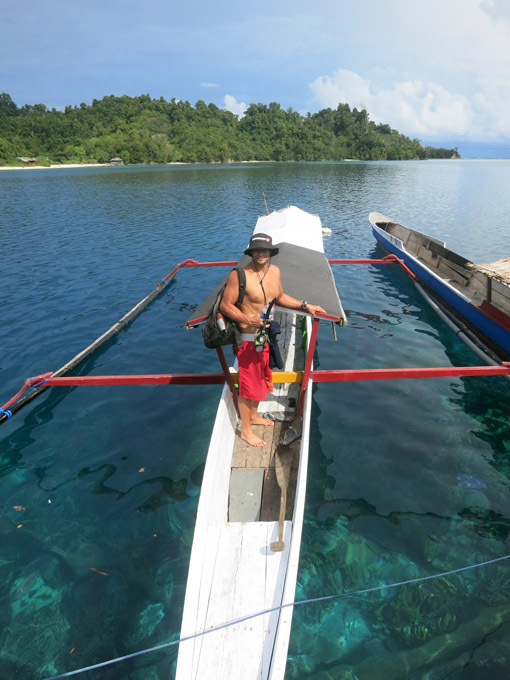 A local boat that took us to some of the small far off islands.