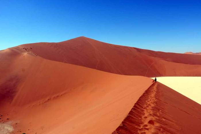 Exploring the dunes around Dead Valley, Sossusvlei