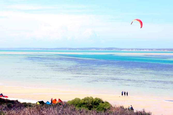 Langebaan, all about kitesurfing. West coast travel guide