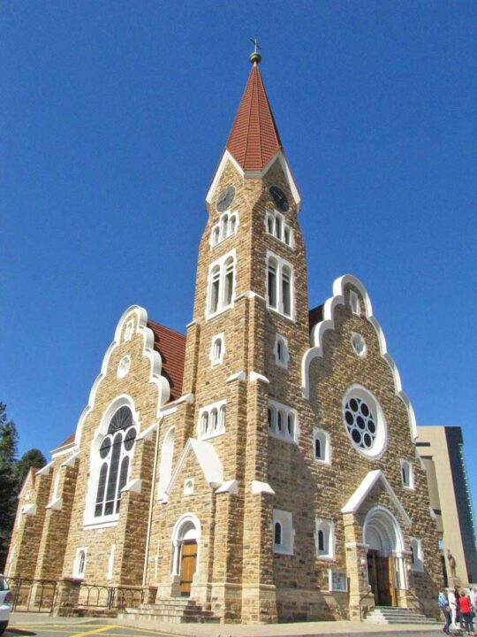 Christ Church in the center of Windhoek, Namibia
