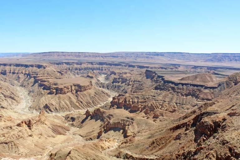 Fish River Canyon is one of the highlights of Namibia road trip