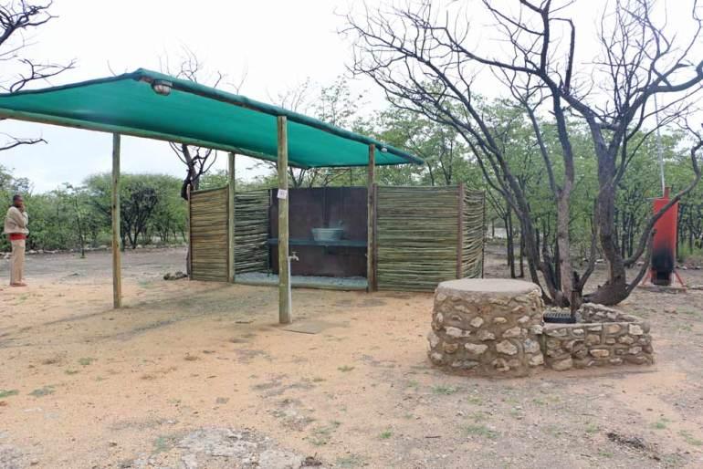 Campsite at Mopane Lodge near Etosha, Namibia