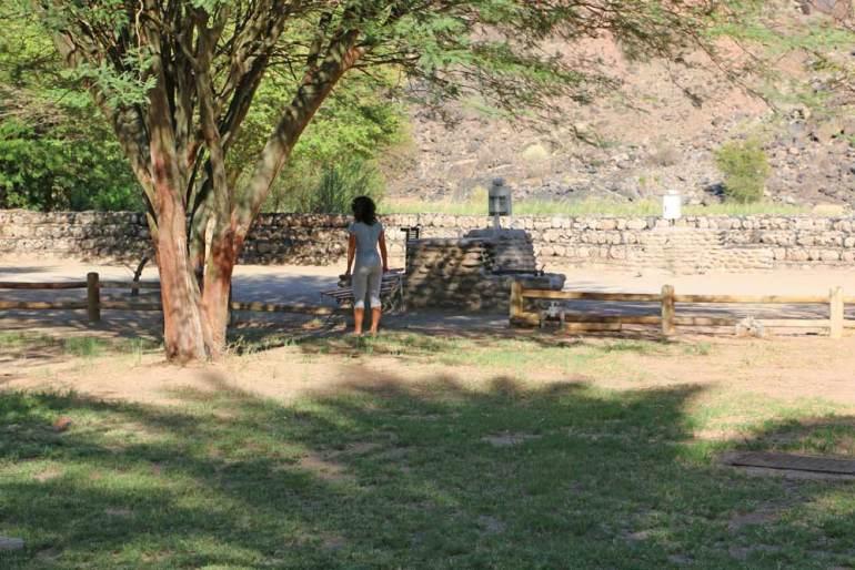 Campsite at Ai Ais Hot Springs near Fish River Canyon