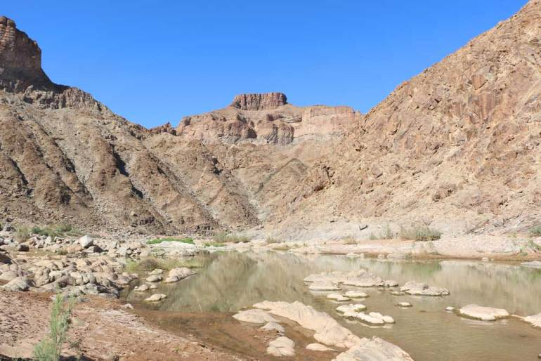 Sulphur Springs on the Fish River Canyon hike