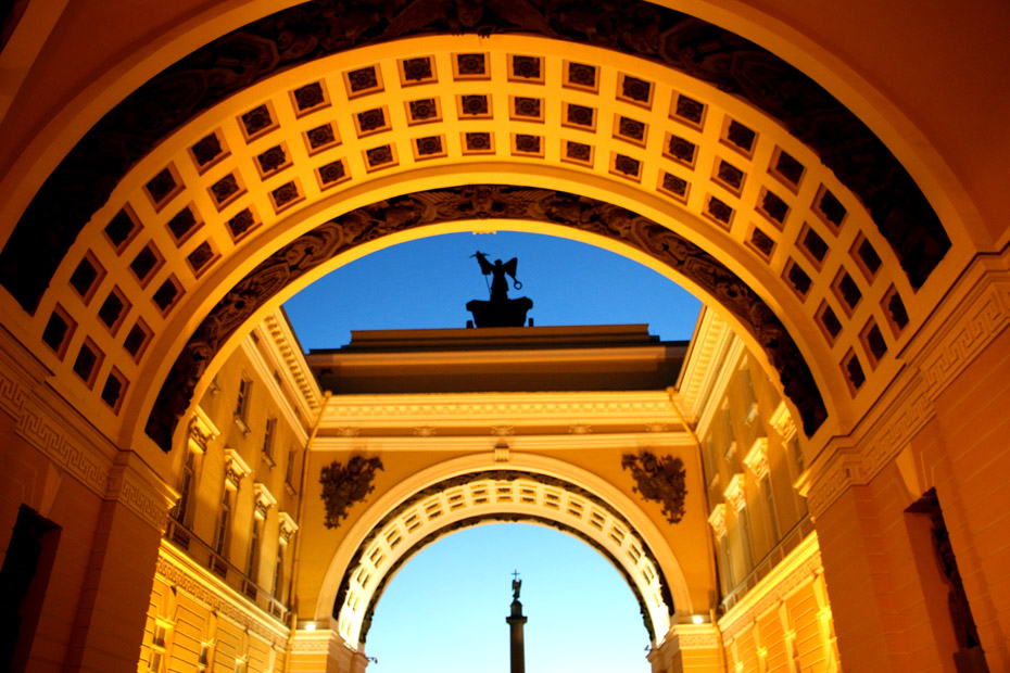 Arch of Former General Staff building, Palace square.