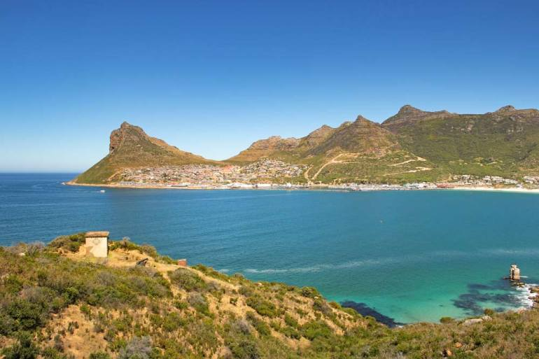 Stunning view of Hout Bay from Chapman's Peak Drive