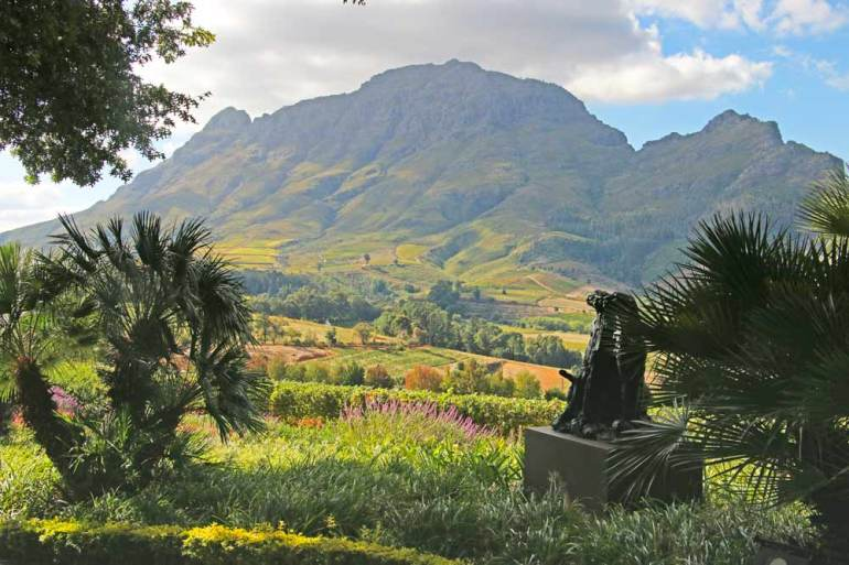 A visit to Delair Graff estate is one of the things to do in Stellenbosch
