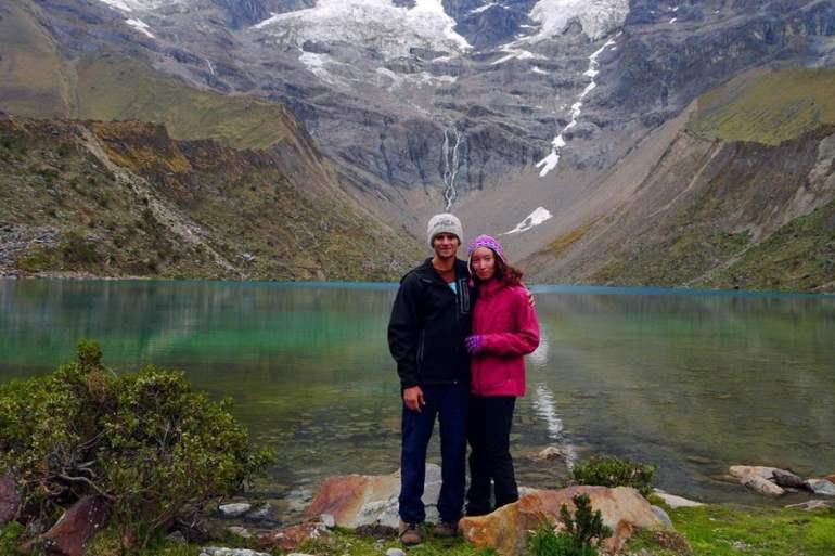 Humantay Lake on the Salkantay trek in Peru.