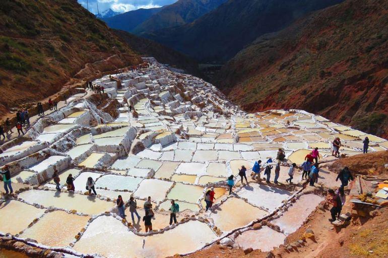 The Salt Pans of Maras Peru Hike