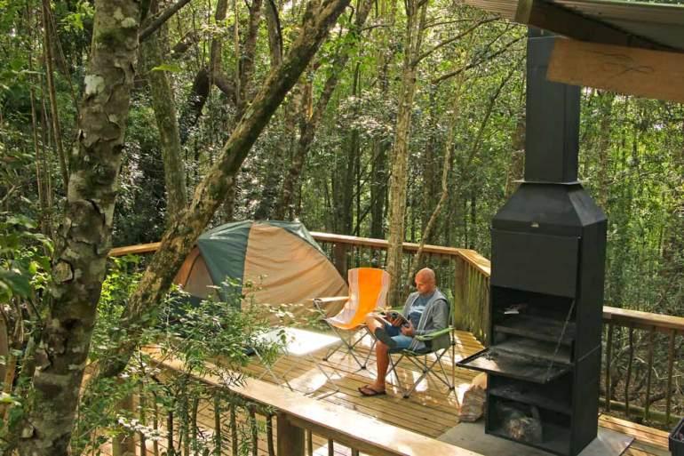 Diepwalle camping decks, Knysna, Garden Route trip