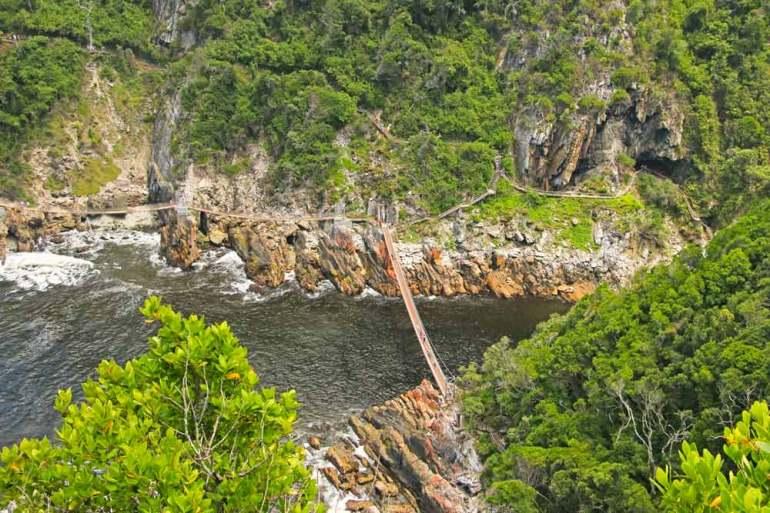 Famous suspension bridges in Tsitsikamma National park, Garden Route