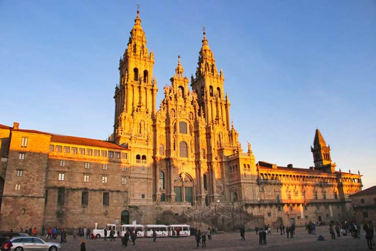 The Gothic Cathedral of St.James lightened by the sun