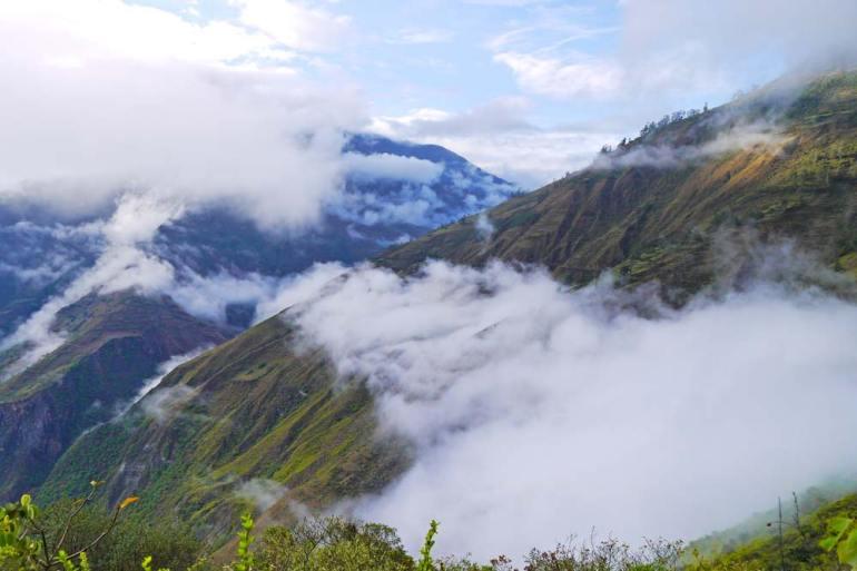 A beautiful scenery on the Choquequirao trek in Peru