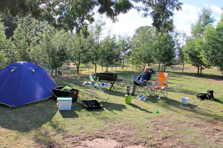 Our spot at Rivierplaas campsite near Worcester