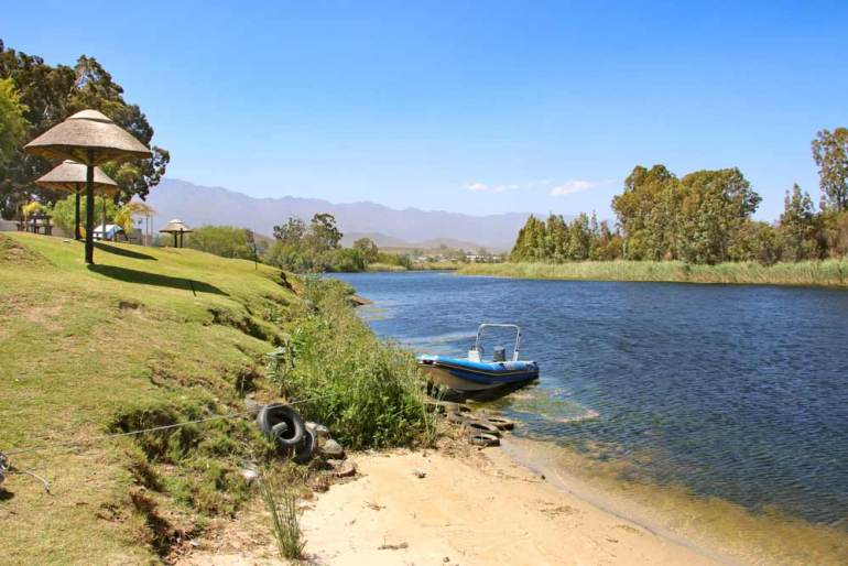 Silverstrand camping site near Cape Town