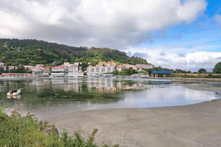 Pontedeume, a beach town on the English Way of Santiago