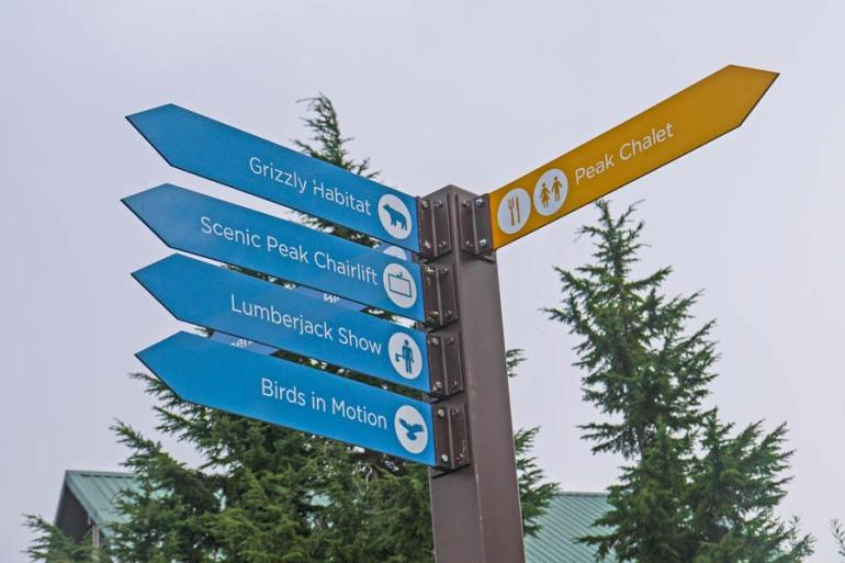 Grouse Mountain signs