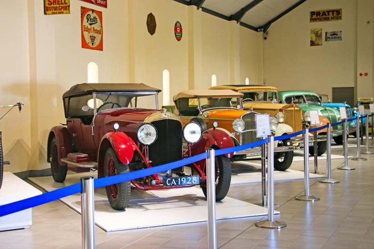 Old cars at the Franschhoek Motor Museum