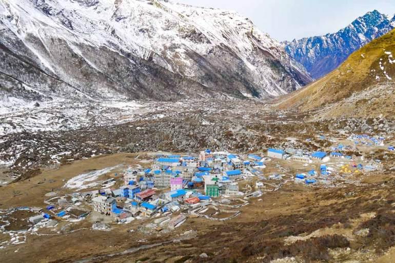 Kyanjin Gompa village, Langtang trek